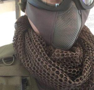 サバゲで頬付けできるメッシュマスク